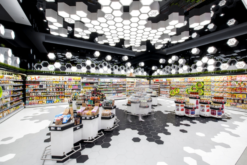 "Цялостен осветителен проект (lighting design) за супермаркет Фантастико - бул. ""Г.М. Димитров"""